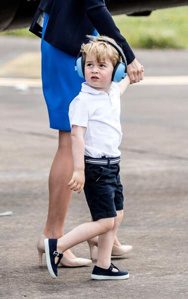 le prince George assiste au Royal International Air Tattoo à  Gloucestershire, le 8 juillet 2016