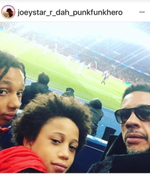 Joey Starr et ses fils, Mathis et Khalil
