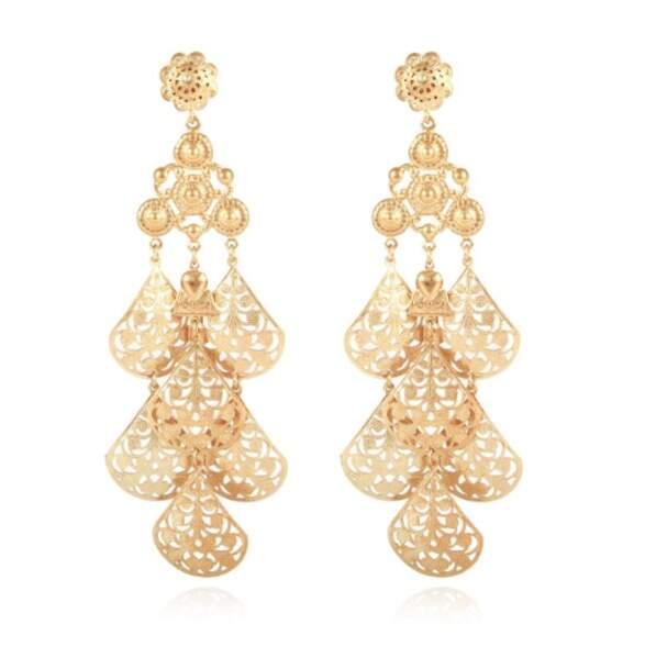 Sofia de Suède portait une paire de boucles d'oreilles Orferia en or de Gas Bijoux déjà en rupture de stock
