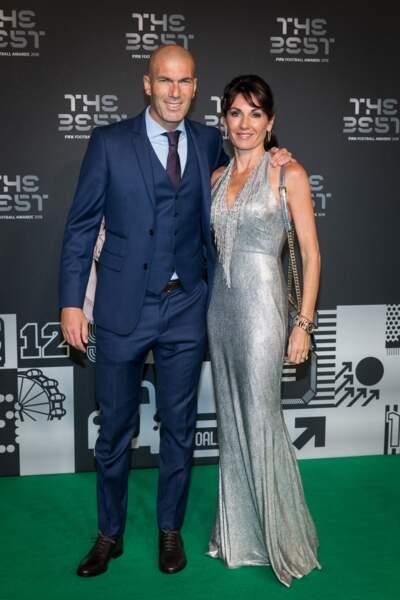 Zinedine Zidane au bras de sa sublime femme, Véronique lors de la soirée des trophées FIFA 2018