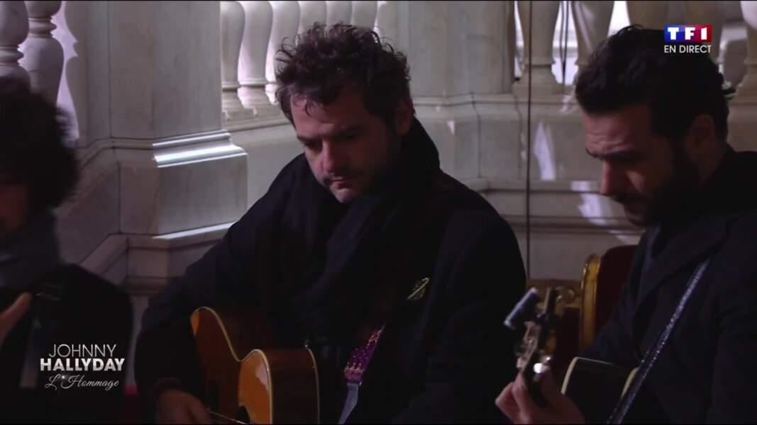 Cérémonie hommage à Johnny Hallyday : Mathieu Chedid qui a fait un album avec Johnnny