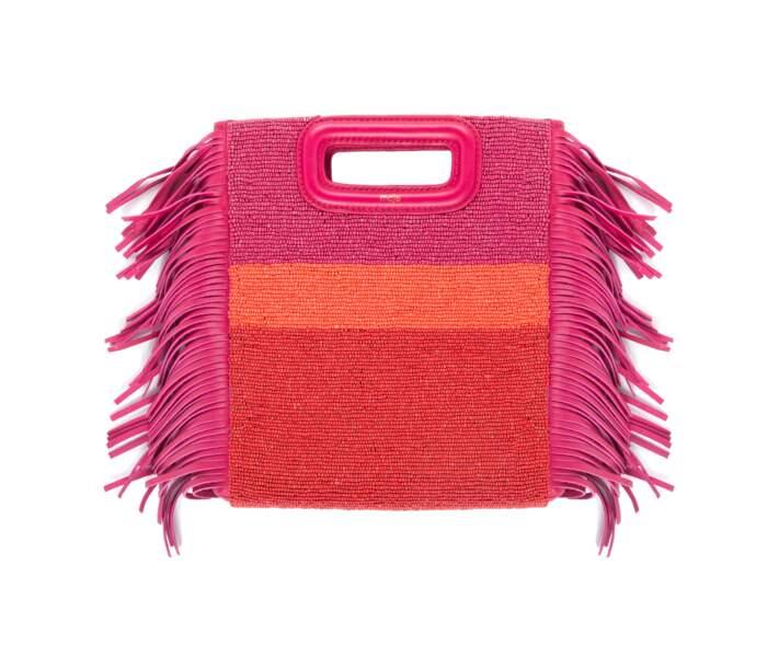 Acidulé, sac M à franges et perles Maje, 265 € (maje.com)