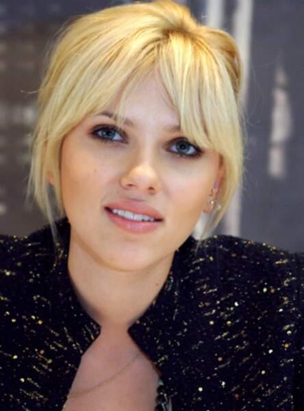 La frange rideau de Scarlett Johansson