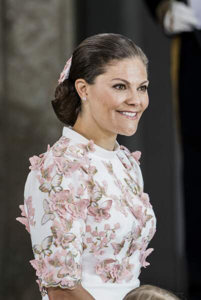 Le chignon bas très princier de la Princesse Victoria de Suède