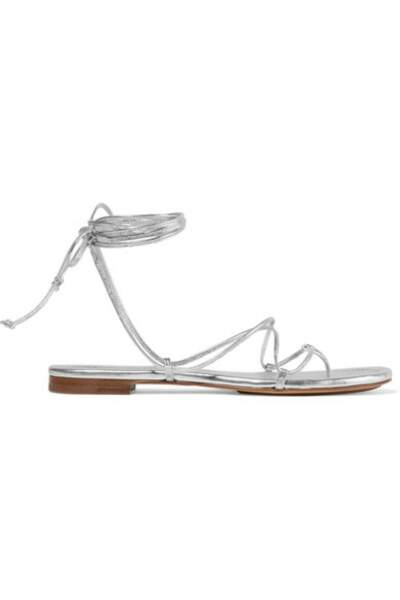 Sandales en cuir métallisé à nouer, Michael Kors Collection, 295 €.