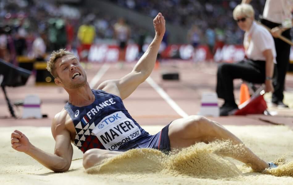 Kévin Mayer se positionne en 4e meilleur saut du concours de la longueur aux Mondiaux de Londres
