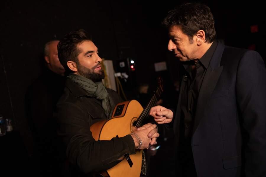 Entre Kendji et Patrick Bruel, la passion de la guitare.