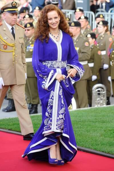 La princesse Lalla Salma arrive a la cathédrale le mariage religieux du Pr. Guillaume de Luxembourg 20 oct.2012