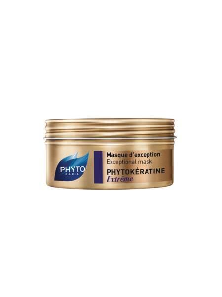 Idéal pour réparer les longueurs et pointes abimées : le masque d'Exception Phytokeratine de Phyto.