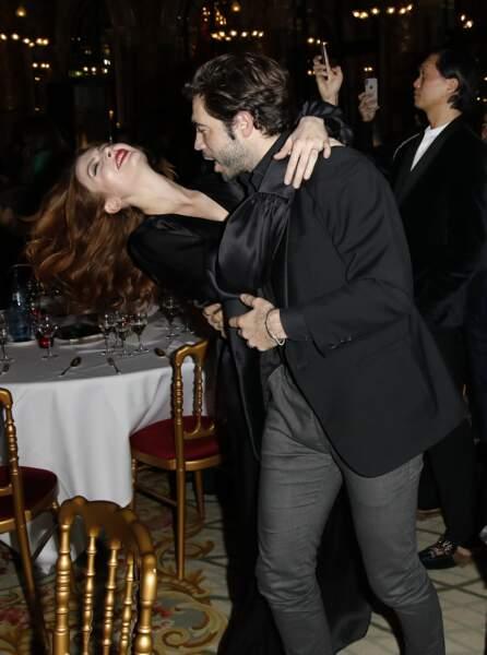 Elodie Frégé et Gian Marco Tavani se sont lâchés sur la piste de danse