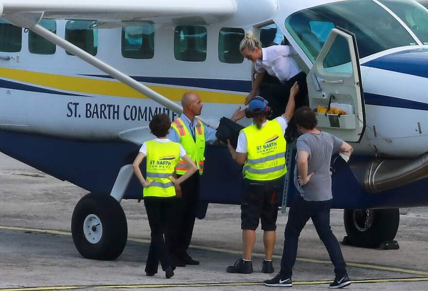 L'avion de Laeticia Hallyday se pose à St Barth