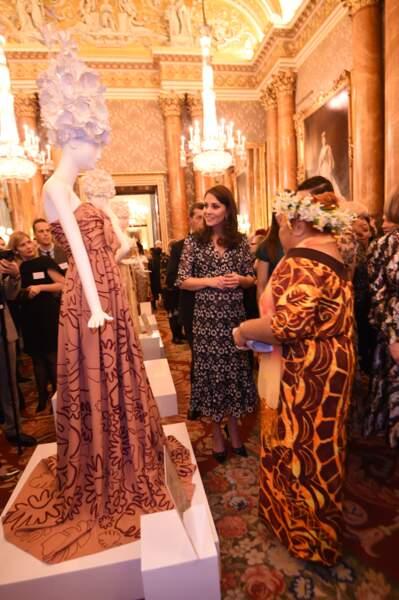 Kate Middleton au palais de Buckingham à Londres le 19 février