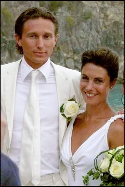 Alessandra Sublet et Thomas Volpi sur la plage de Saint-Barth
