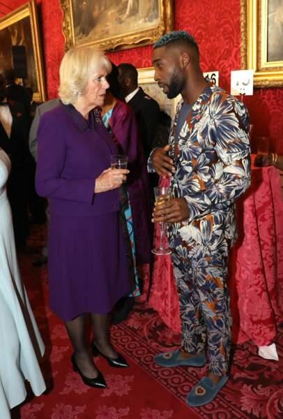 En ultra-violet, lors d'une réception au palais St James, le 24 octobre 2018.