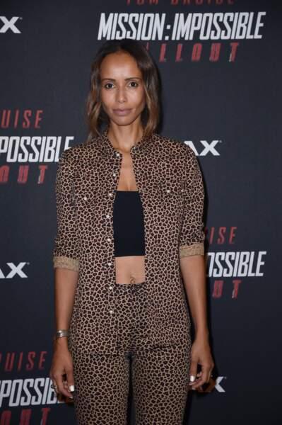 """Sonia Rolland était aussi présente à l'avant-première mondiale de """"Mission: Impossible Fallout"""" au Trocadéro."""