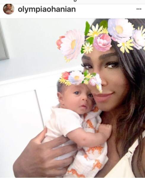 Serena Willilams et sa fille Olympia