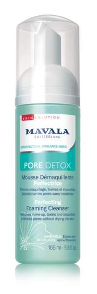 Mousse Démaquillante Perfectrice Pore Detox, Mavala, 15€