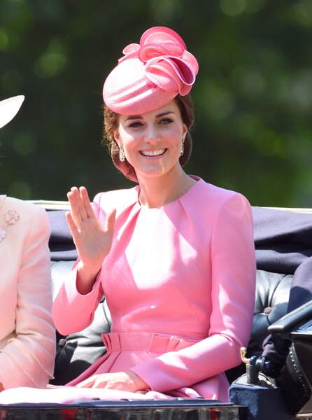 Kate Middleton, sublime en rose