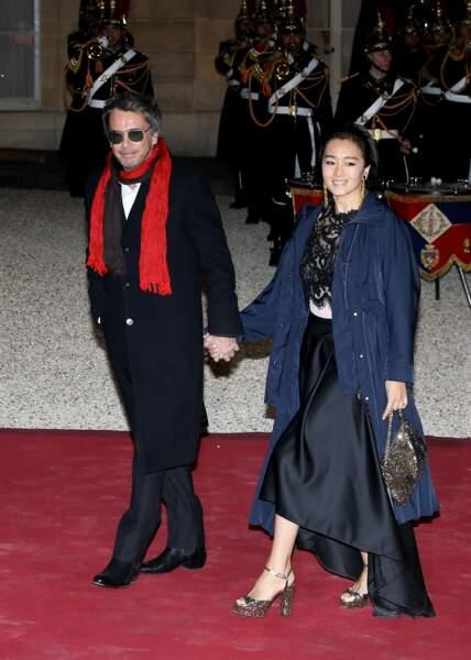 Jean-Michel Jarre et sa compagne Gong Li étaient conviés au dîner d'État organisé par Emmanuel Macron