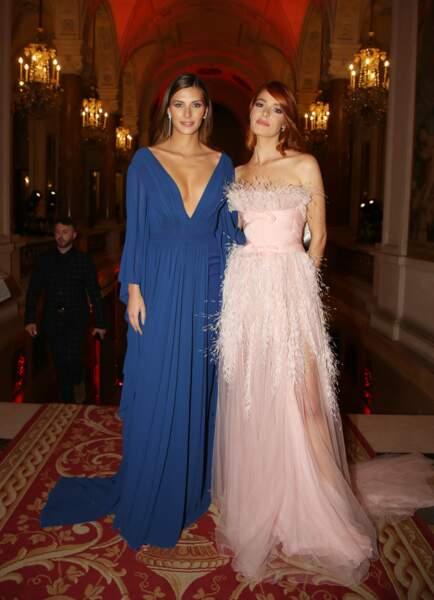 Ce 14 février, Camille Cerf était également accompagnée de l'ancienne Miss France Maëva Coucke