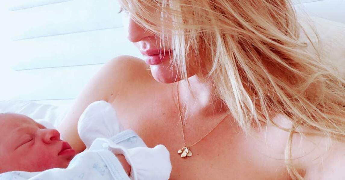 Candice Swanepoel et son fils Ariel, né en juin 2018