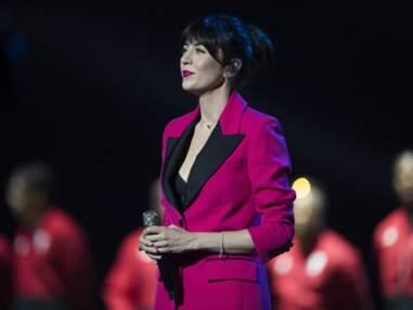 PHOTOS - Nolwenn Leroy sublime en smoking rose et noir pour chanter La Marseillaise