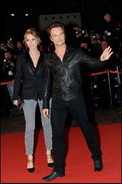 Laura Smet et David Hallyday sur le tapis rouge des NRJ Music Awards à Cannes en 2010