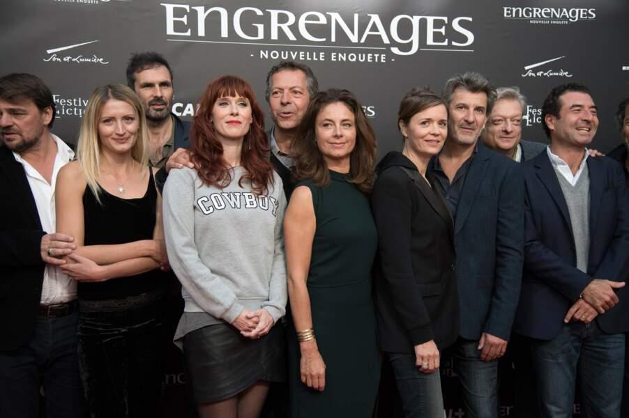 Toutes l'équipe d'Engrenages (Canal +) présente à La Rochelle