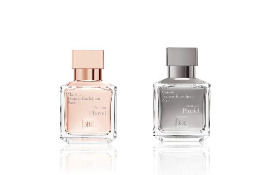 Parfums Francis Kurkdjian Féminin Pluriel, 130€, 70 ml, Masculin Pluriel, 120€, 70ml