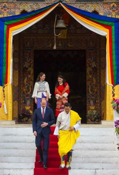 La duchesse de Cambridge et la reine Jetsun Pema