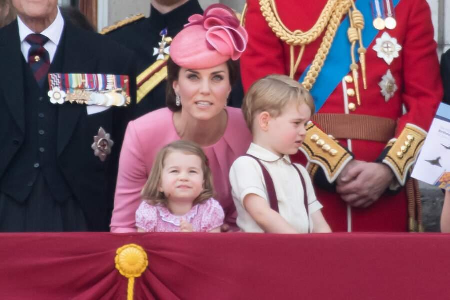 Kate Middleton très complice avec sa petite fille.