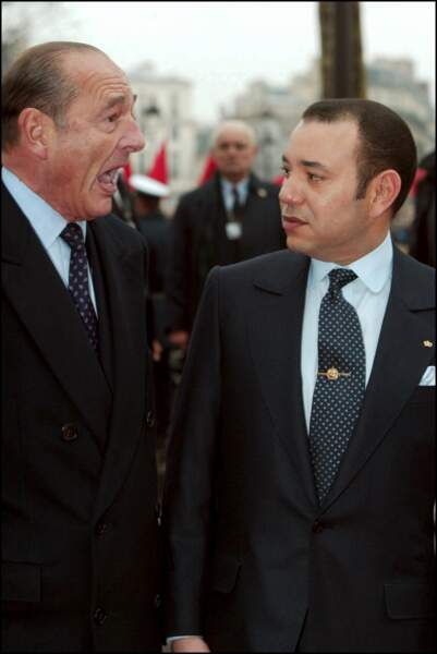 Jacques Chirac et le roi Mohammed VI, à Paris, le 20 décembre 2002.