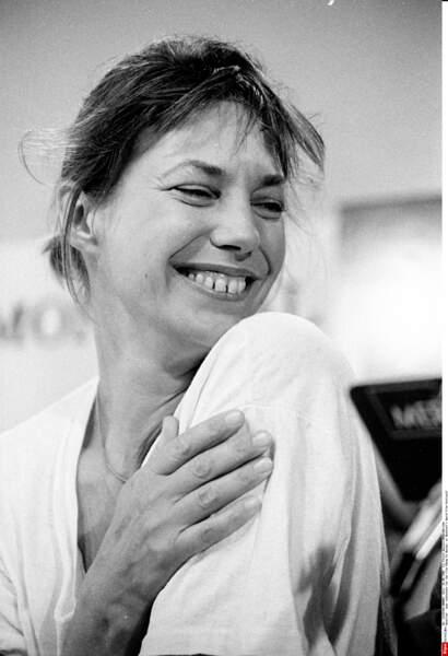 Jane Birkin, 42 ans, au Festival du film international de Montreal, en 1988
