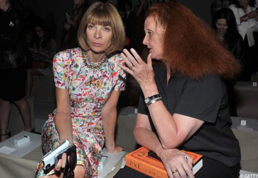 Anna Wintour et Grace Coddington étudient les tenues signées Donna Karan