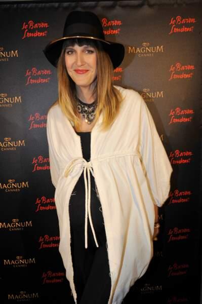 Daphné Burki enceinte de son premier enfant à Cannes en 2013