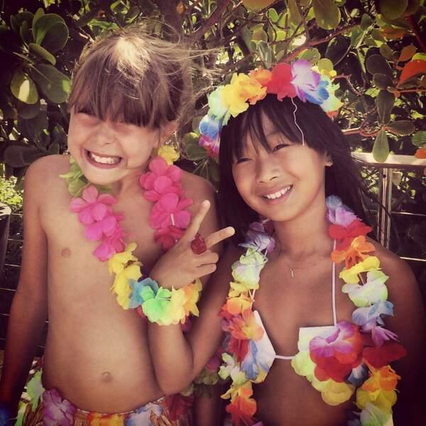 Pierre Rambaldi a sorti une photo souvenir de sa fille et de Jade pour souhaiter un bon anniversaire à celle-ci