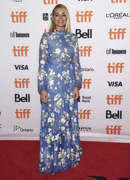 """Margot Robbie lors de la première du film """"I, Tonya"""", à Toronto, le 8 septembre 2017"""