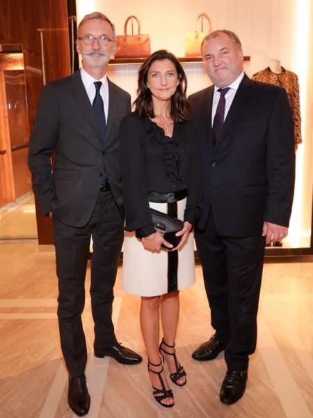 Jean Cassegrain, dg, Sophie Delafontaine, DA, et Olivier Cassegrain, directeur des boutiques US