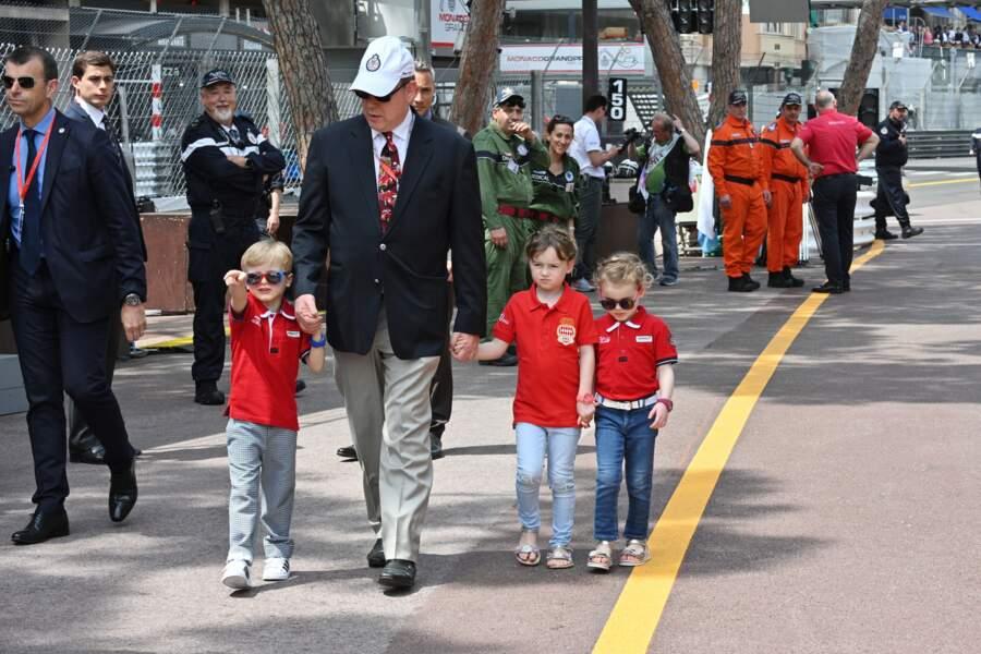 Les enfants du prince Albert sont accompagnés de Kaia-Rose, la fille du frère de la princesse Charlene