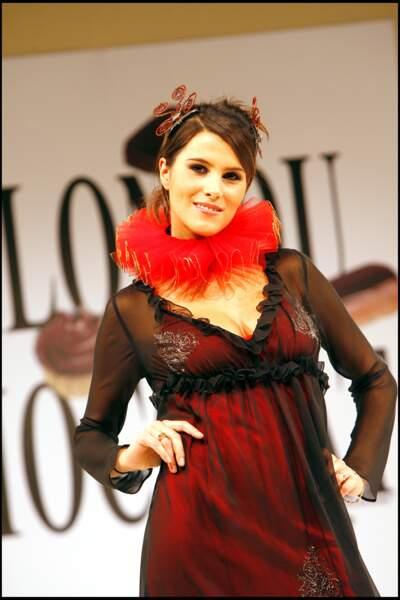 Karine Ferri lors du défilé du Salon du Chocolat à Paris, en 2006