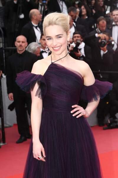 Emilia Clarke a bien senti la tendance du moment avec cette robe en tulle lors du festival de Cannes 2018.