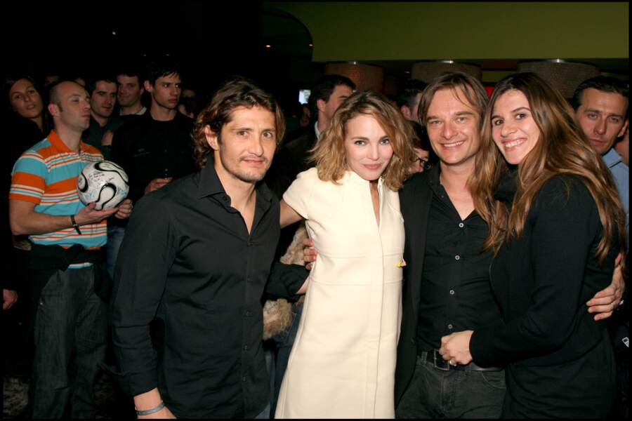 Alexandra Pastor, son mari David Hallyday ainsi que Bixente Lizarazu et Claire Keim