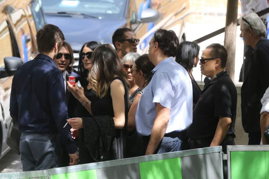 Sylvie Ortega Munoz aux obsèques de Ludovic Chancel le 17 juillet 2017