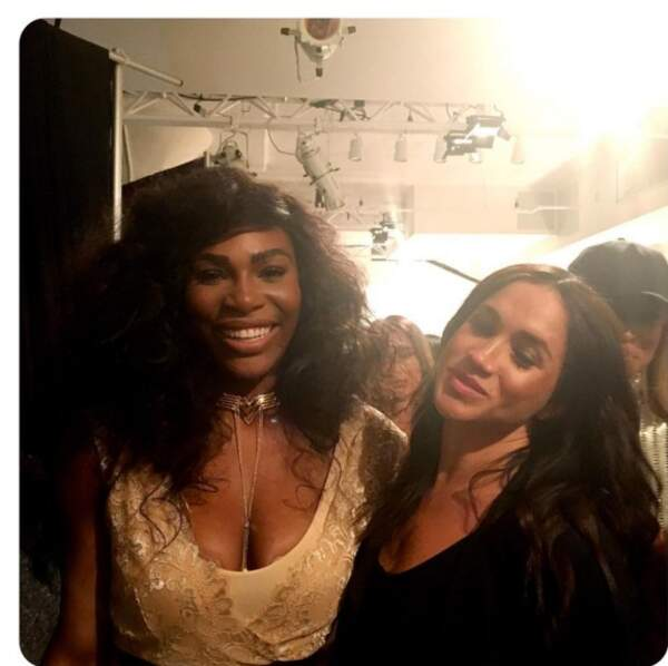 Meghan Markle en soirée, avec sa copine Serena Williams