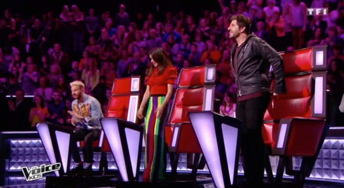 M. Pokora, Jenifer et Patrick Fiori dans The Voice Kids le samedi 16 septembre 2017