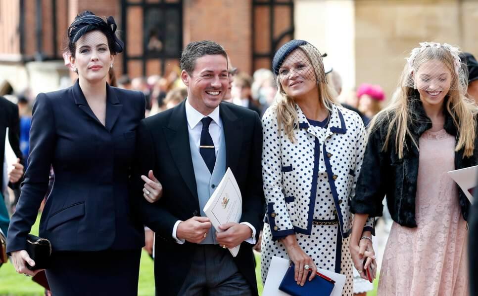 Liv Tyler, Kate Moss et sa fille Lila Grace au mariage d'Eugénie d'York