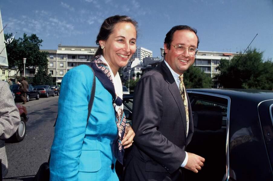 """Ségolène Royal et François Hollande au """"Congrès Démocratique 2000"""" à Lorient le 8 Septembre 1991"""