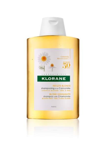 le shampooing à la camomille,  flacon collector pour les 50 ans