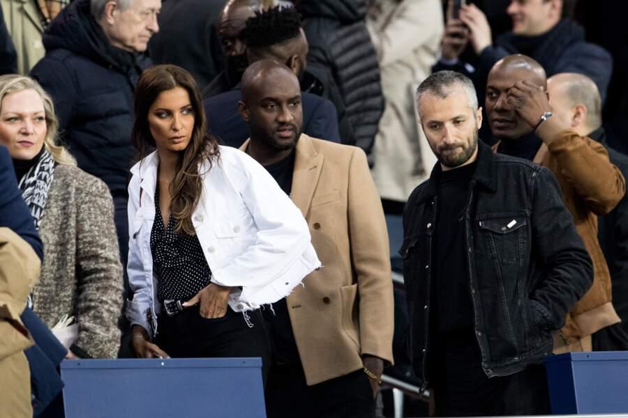 Malika Ménard (Miss France 2010) et Virgil Abloh au Parc des Princes ce 29 avril