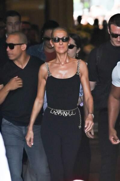 Céline Dion vient d'arriver en Europe pour le lancement de son Courage World Tour